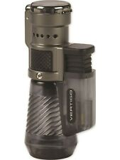 Vertigo by Lotus Cyclone Triple Torch Cigar Lighter Charcoal, New