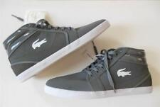 LACOSTE Men 12M NWT High top Sport Sneaker Shoe Gray Lightweight Croc Laces NEW