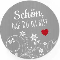 24 Aufkleber Schön, dass Du da bist Sticker Etiketten Hochzeit Verpackung Fest 6