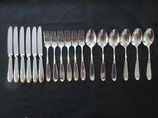 WMF Prisma Gold Cromargan 6 Personen 18 Teile Menü Besteck Messer Gabel Löffel