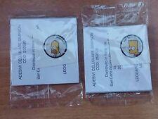2 adesivi x cellulare SIMPSON  HOMER e BART NUOVI SAN CARLO