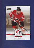 Nic Petan 2014-15 UD Hockey Team Canada Juniors Gold Parallel #129