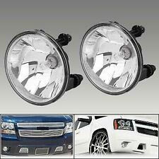 For Chevy Avalanche Tahoe Suburban GMC Yukon 07-14 Clear Fog Lights Lamps w/Bulb