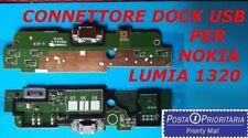 *POSTA 1* FLAT CONNETTORE DOCK USB NOKIA LUMIA 1320 DOCK RICARICA + MICROFONO