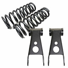 """B 1965-1979 Ford F100 3"""" Drop Front Lowering Coil Springs 2"""" Shackles 353430"""