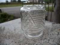 """Vintage Clear Glass Small Lamp Light Shade 4"""" Antique"""