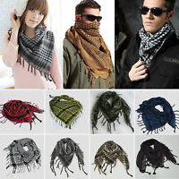 Men Women Military Lightweight Arab Desert Army Checked KeffIyeh Scarf Neck Wrap