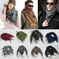 Men Women Shemagh KeffIyeh Arab Shawl Scarf Neck Wrap Scarves Stole Tassel Gifts