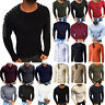 Mens V-Neck Knitted Skinny Sweater Winter Button Cardigan Slim Warm Casual Tops