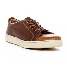 H.S. TRASK Beck Sneaker Men's Leather Chocolate Men's 13M Two Tone Brown Leather