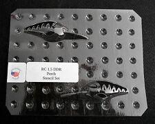 Custom Lucky Cast, Stencil,Clear PETG, RC 1.5 DDR, Perch