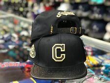 huge discount 3b02c 1adef Cleveland Indians Pro Standard 3D GOLD STRUCK Black Strapback MLB  Adjustable Hat