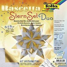 # folia® 366 Bascetta SternSet Duo 32 Blatt 15x15cm gold/silber