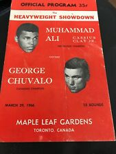 Muhammad Ali v George Chuvalo Toronto 1966 Cassius Clay On Site Original Program