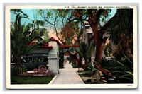 Riverside, CA California, The Archway Mission Inn, Postcard Posted 1936