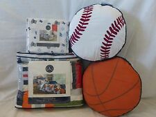 9 pc Authentic Kids Sports Full Quilt, Shams, Sheet, & Deco Pillow Set NIP