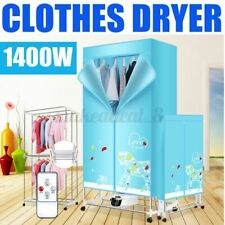 110V Portable Electric Clothing Dryer Heater+Remote Folding Drying Rack
