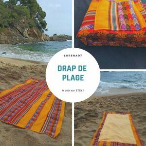 Grande serviette de plage ethnique