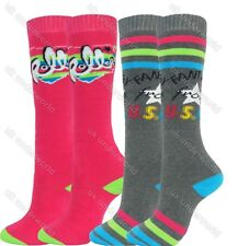 2 Pairs Boys Girls Thermal Welly Socks Boot Ski Walking Cycling Childrens Ladies Option 4 12 - 3
