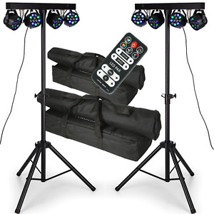 PAIR QTX PB-1214 48W RGBW Par LED DJ DMX Band Stage Lighting Party Bar Package