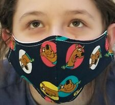 Home Made Face Mask Scooby-Doo Double Cloth Washable Reusable kids size
