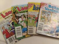 Archie Digest Library Books, 4 volumes Archie, Laugh & Betty & Veronica