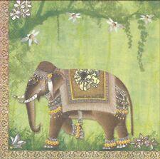 2 Serviettes en papier Bombay Elephant Inde Decoupage Paper Napkins Mumbai