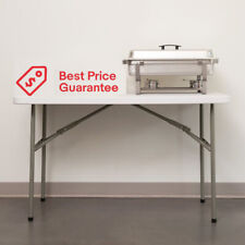Folding Table Small Sturdy Heavy Duty Plastic Indoor Outdoor Party Banquet New