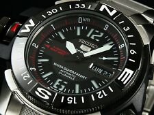 SEIKO MEN ATLAS AUTOMATIC DIVER BLACK WATCH 200M SKZ229K1 Warranty,Box, RRP:£300