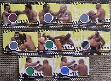 2010 Topps Ufc Series 4 Lot Of 8 Event Used Mat Relics