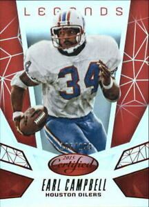 2015 Certified Legends Mirror Red #19 Earl Campbell /199