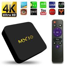 2018 MX10 Android 8.1 Wifi 4GB RAM TV BOX KODI 18.0 Quad Core Media Player 4K US