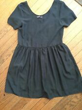 urban outfitters sparkle and fade grey short sleeve dress small s polyester