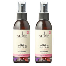 Sukin ROSE Hydrating MIST TONER Soothing Blend 125ml Pack of 2