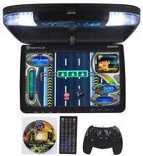 Rockville RVD9FD-BK 9 TFT Black Flip Down Car DVD Monitor w/ USB/SD/Video Games
