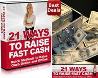 21 Ways To Raise Fast Cash e Book Free Shipping + Bonus e Books ,.