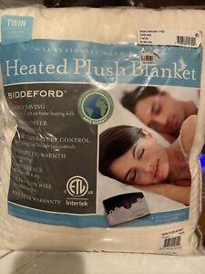 Biddeford Microplush Heated Blanket Twin Size Cream $180 New In Package
