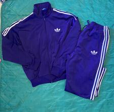 Vintage Adidas Track Suit Men Size XL  Jacket & Pants - Purple