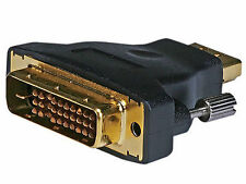 Gold Plated M1-D P&D Male to HDMI® Female Adapter