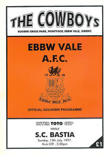 Ebbw Vale V S. C. BASTIA INTERTOTO CUP 13 JUL 1997