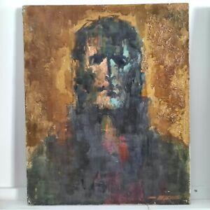 Tableau Huile sur toile CHRIST signé Robert Falcucci 1900-1989 - Oil on Canvas
