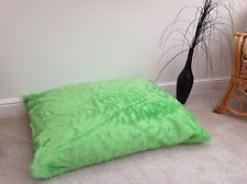 Beanbag Floor Cushion Filled Lime Faux Fur Large 3ft Size Luxurious New