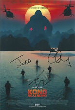 Kong: Skull Island Multi Signed 12x8 Photo AFTAL *SIGNED BY 3*