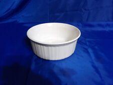 Corning Ware #F5B WHITE PORCELAIN RIBBED 1.6L RAMEKIN SOUFFLE BAKING DISH