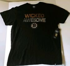 Boston Bruins 47 Brand Men's Scrum T-Shirt NWT Wicked Awesome Small