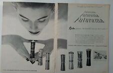 1956 Revlon Futurama lipstick case design Van Cleef & Arpels vintage two-page ad