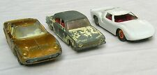 "1960s Ford ""GT"" & ""Corsair""+ Lamborghini ""Miura"" by Lesney, 3 ea. 1/64 Diecast"