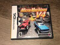 Micro Machines V4 Nintendo DS Complete CIB Authentic