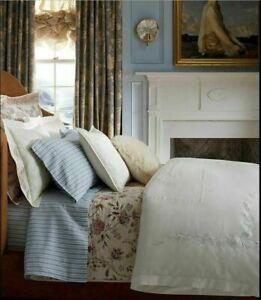 Ralph Lauren Islesboro Hillsboro Cream Embroidered Full/Queen Comforter & Shams