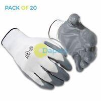 20 x Nylon Nitrile Coat Gloves Nitrile Palm Heavy Duty Work Metal Handling XL